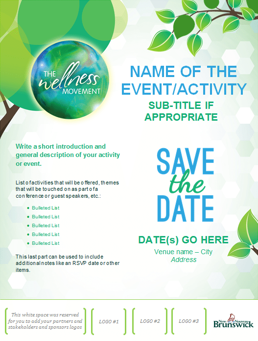 Download tools the wellness movement le mouvement du for Conference save the date template